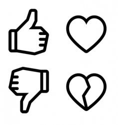 broken heart icons vector image vector image