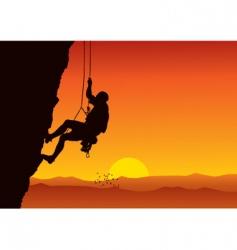 climber vector image