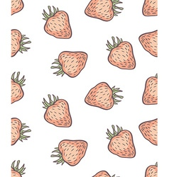 cute seamless strawberry pattern in vector image