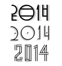 elegant happy new year 2014 design vector image vector image