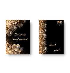 set of romantic backgrounds with glitter vector image