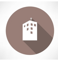 Townhouse icon vector image vector image