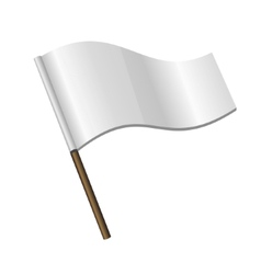 White Curl Flag Icon vector image