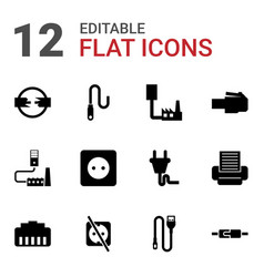 12 cord icons vector
