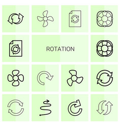 14 rotation icons vector