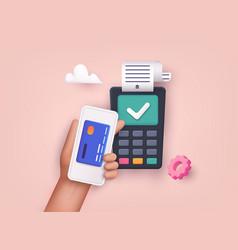 3d web contactless payment near field vector