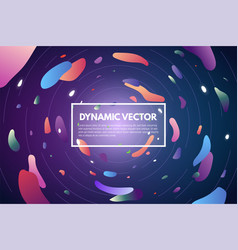 abstract background with gradient circles vector image