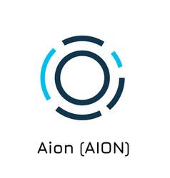 Aion aion crypto coin icon vector