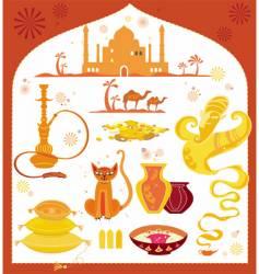 Arabic set design elements vector