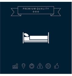 bed symbol icon vector image