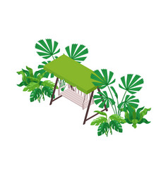 bench swing icon vector image