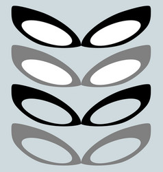 Black mask and other color or female glasses vector
