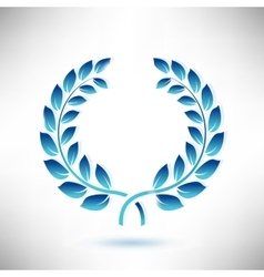 Blue Laurel Wreath vector