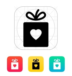 Box with heart icon vector image