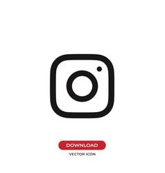 camera lens icon instagram logo symbol vector image