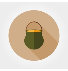 Camp pot icon vector