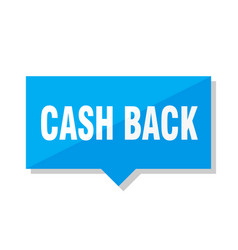 Cash back price tag vector