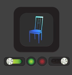 chair icon symbol furniture icon home interior vector image