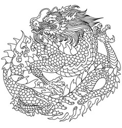chinese dragon outline vector image