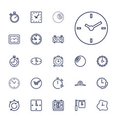 Chronometer icons vector