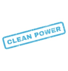 Clean Power Rubber Stamp vector image