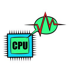 Cpu icon cartoon vector