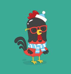 Cute cartoon rooster clipart vector