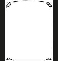 Decorative black contour frame vector