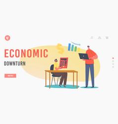 Economic downturn landing page template budget vector