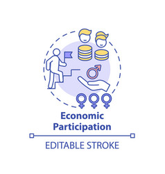 Economic participation concept icon vector
