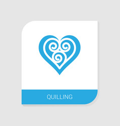 Editable filled quilling icon from handmade icons vector