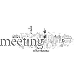Effective meetings phone part how to plan a vector