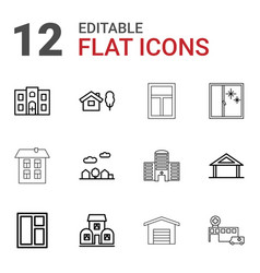 exterior icons vector image
