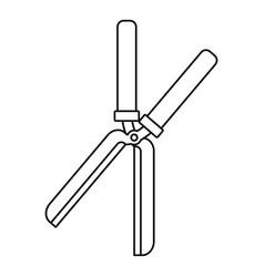 Farm scissors icon outline style vector