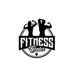 Fitness club designs with exercising athletic man vector