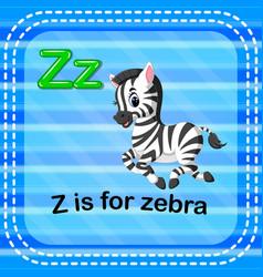 Flashcard letter z is for zebra vector