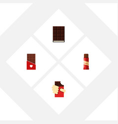 flat icon sweet set of sweet shaped box dessert vector image