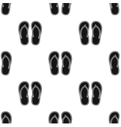 Flip-flops icon in black style isolated on white vector