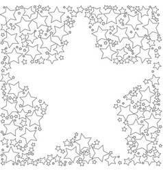 Frame with stroke stars on a white background vector