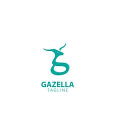 gazelle g letter logo design vector image