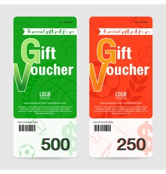 Gift certificate gift voucher gift card template vector
