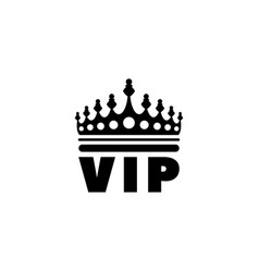 Golden vip crown flat icon vector