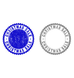 grunge christmas sale textured stamps vector image