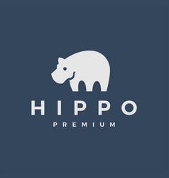 Hippo logo icon vector