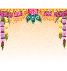 indian garland background great design with place vector image