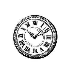 ink sketch pocket watch vector image