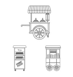 Isolated object of market and exterior symbol vector