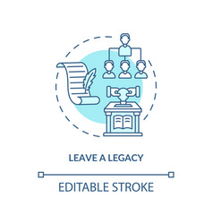 Leave a legacy blue concept icon vector