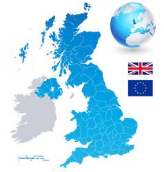 Map set united kingdom vector