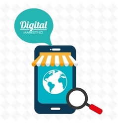 Marketing digital smartphone store vector